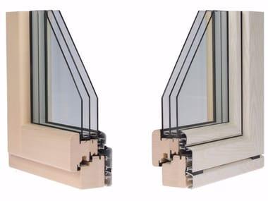 Aluminium and wood triple glazed window ETERNITY PLUS
