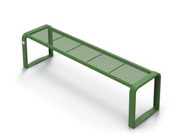 Backless galvanized steel Bench ETHOS | Backless Bench