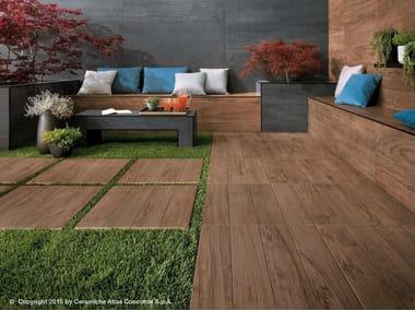 Pavimento per esterni in gres porcellanato effetto legno ETIC PRO | Pavimento per esterni in gres porcellanato