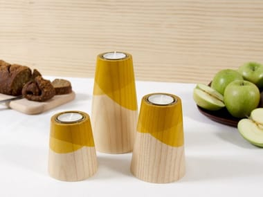 Pine candle holder ETNA MINI