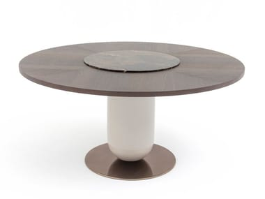 Wooden table with Lazy Susan ETTORE | Wooden table
