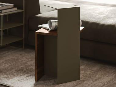 Tavolino in metallo e legno EUREKA