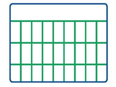 Rete elettrosaldata zincata e plastificata EURONET® PLAST M/G | 50 x 25