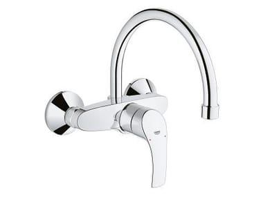 Wall-mounted kitchen mixer tap with swivel spout EUROSMART | Kitchen mixer tap