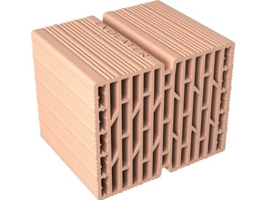 External masonry clay block EV30 - 30X25X25 DL311 13L