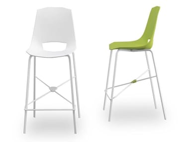 High polypropylene stool with footrest EVA 6