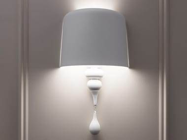 Powder coated aluminium wall light EVA A1 M