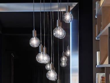 Steel pendant lamp EVE