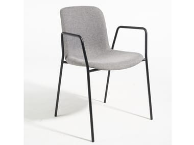 Fabric chair with armrests EVERY | Chair with armrests