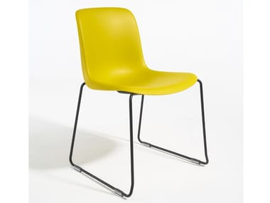 Sled base polypropylene chair EVERY | Reception chair