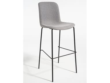 High fabric stool with back EVERY | Fabric stool