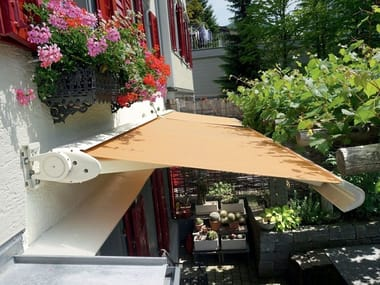 Fabric Folding arm awning EVO