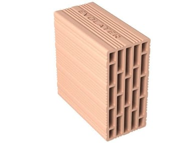 External masonry clay block EVOLATER TAMPONATURA 12X25X25
