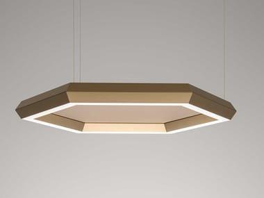 Luminária pendente LED de chapa perforada EXAGON SILENCE