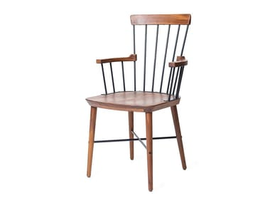 High-back walnut chair EXCHANGE | High-back chair