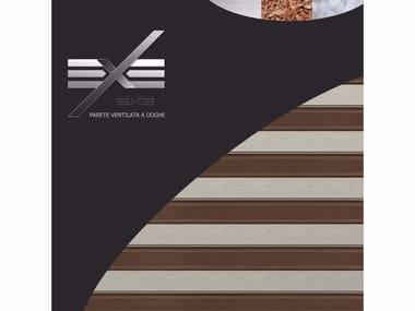 Wood panel for facade EXE