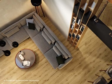 Porcelain stoneware flooring with wood effect EXENCE   Flooring