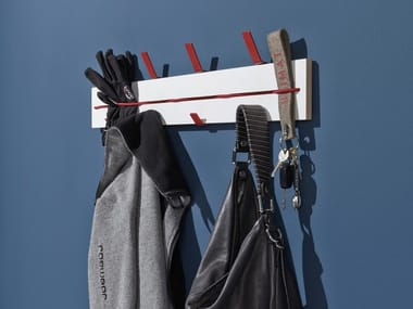 Wall-mounted multi-layer wood coat rack EXPANDER