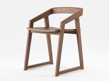 Solid wood chair with armrests EXPERIENCE | Chair