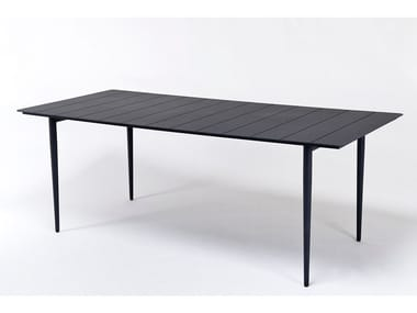 Mesa rectangular de aluminio para jardín EXPERIENCE | Mesa