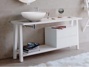 Floor-standing ash vanity unit EXPO | Floor-standing vanity unit