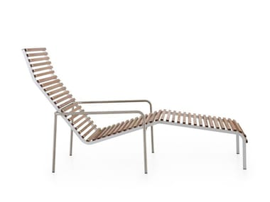 Deck chair with armrests EXTEMPORE | Deck chair