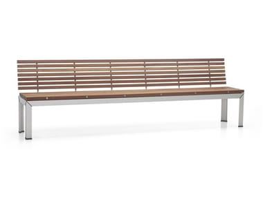 Wooden garden bench with back EXTEMPORE   Garden bench with back