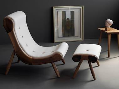 Upholstered fabric armchair EYE | Armchair