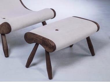 Fabric footstool EYE | Footstool