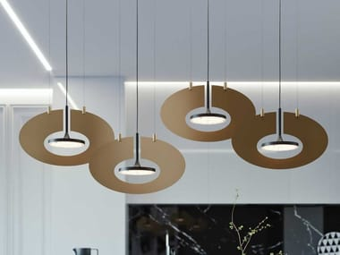 LED direct light Anodized aluminium pendant lamp EYE IN THE SKY H4 MINI