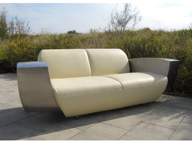 3 seater leather sofa EASY ONE XL