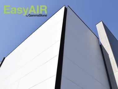 Large format modular panels in gres for façade cladding EasyAIR