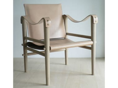 Leather easy chair with armrests F1 | Leather easy chair