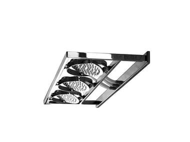 Soffione a parete in acciaio inox Nu F2850