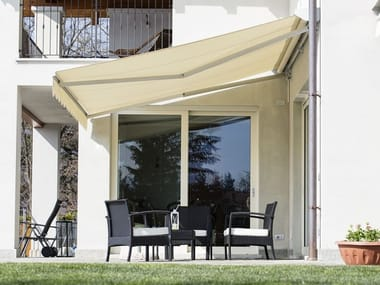 Motorized fabric Folding arm awning F7 PLUS