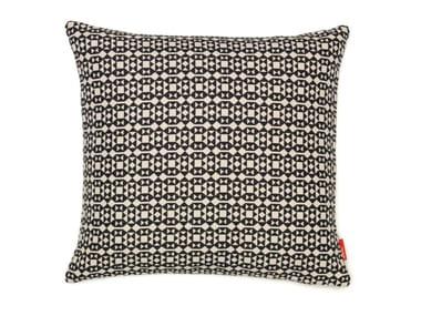 Cuscino quadrato in tessuto a motivi geometrici FACETS