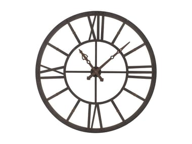 Wall-mounted steel clock FACTORY LED