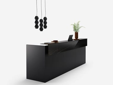Wooden Office reception desk FACTORY