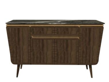 Buffet de madeira com portas com gavetas FAI | Credenza M01