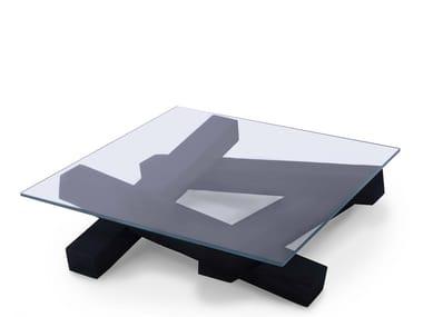 Square crystal coffee table FALÒ