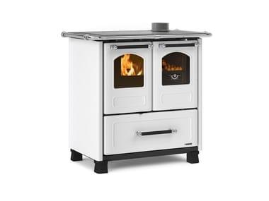 Cucina a legna con rivestimento in acciaio porcellanato FAMILY 3,5