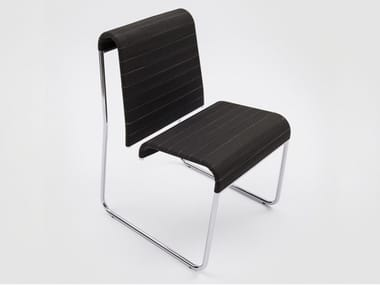 Sled base polypropylene and chromed metal chair FARALLON | Chair