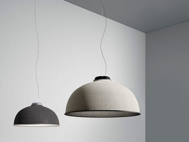 LED fabric pendant lamp FAREL