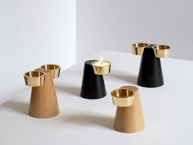 Wooden candle holder FARO