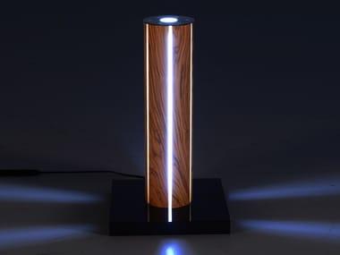 Lampada da tavolo per esterno a LED a luce diretta e indiretta in ulivo FARO