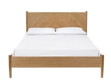 Double bed with high headboard FARSTA ANGLE | Bed