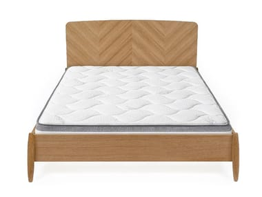 Double bed with high headboard FARSTA HERRINGBONE | Bed