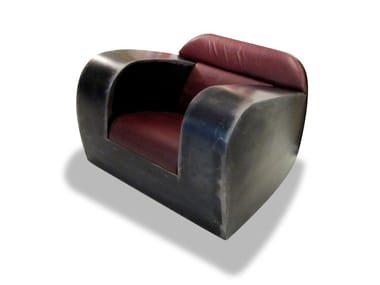 Metal armchair with armrests FAT ASS