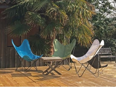 Folding Batyline® garden armchair with removable cover AA© BATYLINE by Serge Ferrari