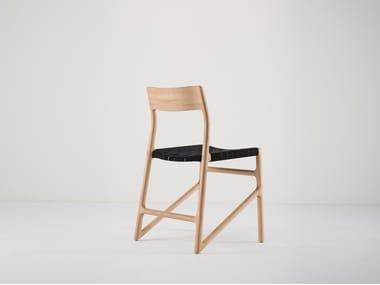 Open back oak chair FAWN | Chair